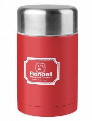 945-RDS Термос для еды 0,8 л с внутр.контейнером 0,35 л Picnic Red Rondell (R)