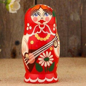 Матрёшка «Концерт», красный микс, 5 кукольная, 12 см