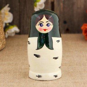Матрёшка «Берёзка», зеленый платок, 5 кукольная, 10 см
