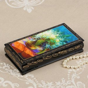 Шкатулка - купюрница «Ландыши», 8,5?17 см, лаковая миниатюра
