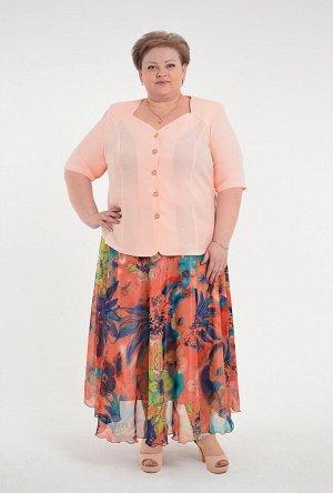 Блуза  - персик