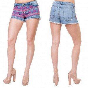 Женские бохо-шорты SHORT с этно-вышивкой и бахромой. Никакие обрезанные джинсы не произведут такого эффекта №240