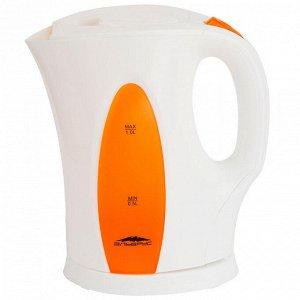 Чайник электрический 2200 Вт, 1 л ЭЛЬБРУС-3 белый с оранжевым