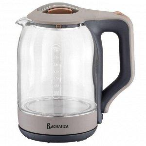 Чайник электрический 2000 Вт, 1,8 л ВАСИЛИСА ВА-1026 серый