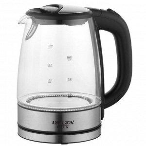 Чайник электрический 2200 Вт, 1,7 л DELTA LUX DL-1204B черный
