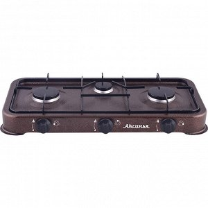 Газовая плита настольная 3-конфорочная АКСИНЬЯ КС-103 коричневая