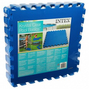 Подстилка-пазл для бассейна, модульная, 50 х 50 х 0,8 см, 8 деталей, 29081 INTEX