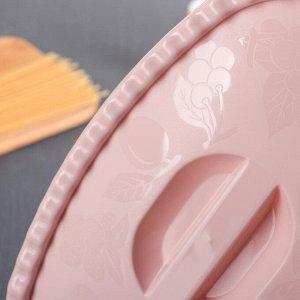 Миска с крышкой прямоугольная 2,7 л, цвет чайная роза
