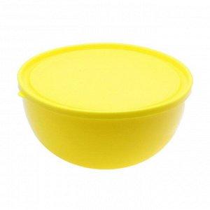 Салатник с крышкой 2,5 л Galaxy, цвет МИКС