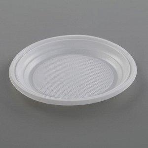 Набор одноразовой посуды «Биг-Пак №1», 6 персон, цвет белый