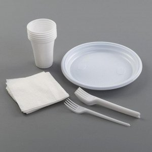 Набор одноразовой посуды «Летний №2», 6 персон, цвет МИКС