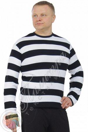 Свитер чёрно-белый синий красный фиолетовый зеленый Состав: акрил 100% Описание: Модный контрастный свитер в чёрно-белую полосу с округлым вырезом горловин и длинными рукавами. Модель выполнена из кач