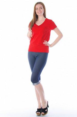 """Бриджи 155 Состав: 75% хлопок, 20% ПЭ, 5% лайкра Описание: Удобные и красивые """"джинсовые"""" бриджи с манжетом на """"изнаночную"""" сторону. Выполнено изделие из эластичной ткани футер с лайкрой. Незаменимая"""