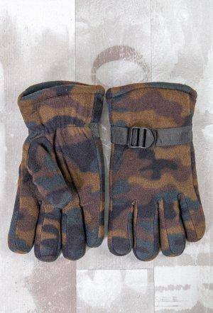 Перчатки мужские флис с мехом,КМФ