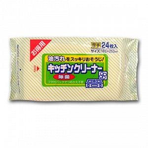 """""""Showa Siko"""" """"Kitchen cleaner"""" Влажные салфетки для удаления жировых загрязнений на кухне, 24 шт."""
