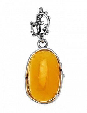 Кулон из натурального янтаря в серебре «Риальто», 904504385
