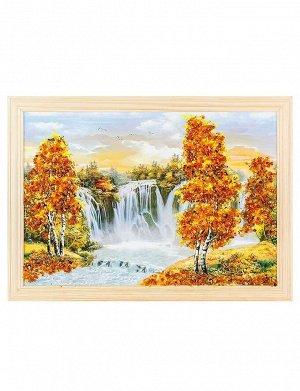 Картина с натуральным балтийским янтарём «Бабье лето» 23 см (В) х 33 см (Ш), 808906017