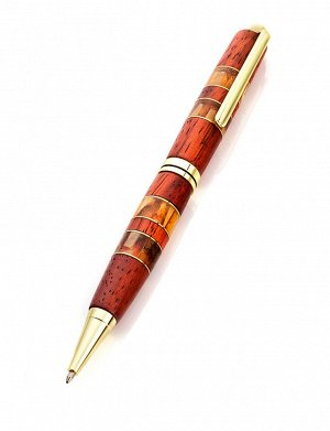 Ручка из древесины падука, со вставками из натурального янтаря, 810603207