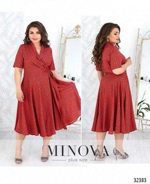 Платье №19-21-красный