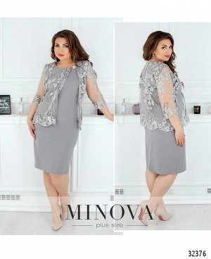 Платье №362-серый