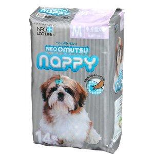 """""""Neo Loo Life"""" """"NEOOMUTSU"""" Подгузники для домашних животных, размер М (5-8 кг.), 14 шт"""