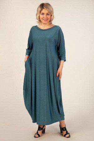 Платье Эвита темно-голубой