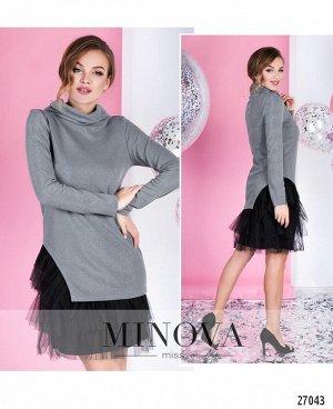 Платье №1051-серый