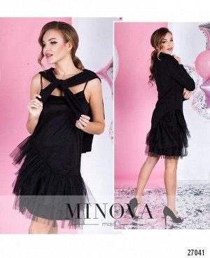 Платье №1051-черный
