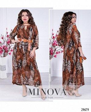 Платье №110-коричневый