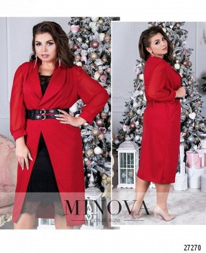 Платье №087-красный