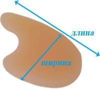 Межпальцевый разделитель силиконовый