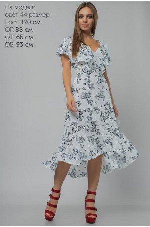 Платье асимметричное Белое 42-44 размер