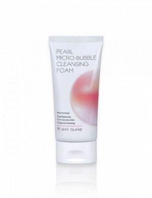 Кремовая пенка для умывания May Island Pearl Micro-Bubble Cleansing Foam   120 мл