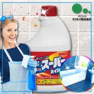 """""""Mitsuei"""" Мощное чистящее средство для ванной комнаты и туалета с возможностью распыления (запасная бутылка)"""
