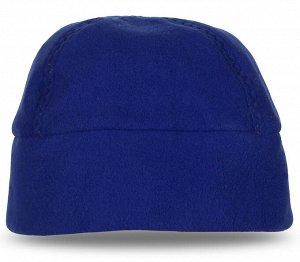 Шапка Однотонная синяя шапка с рельефной строчкой – рекомендуем купить и для спорта, и на каждый день. №1792 ОСТАТКИ СЛАДКИ!!!!
