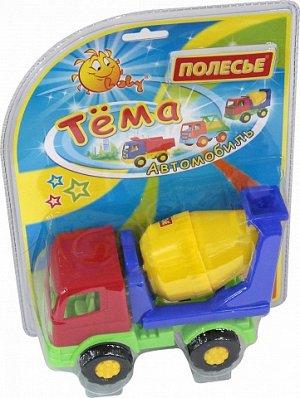 Тёма автомобиль бетоновоз (в блистере №2)