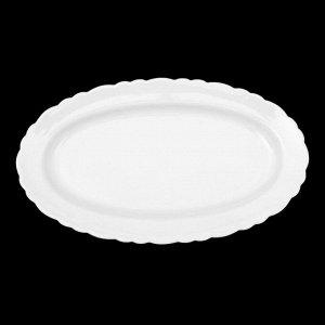 Тарелка 29 см «Классика», овальная, цвет белый