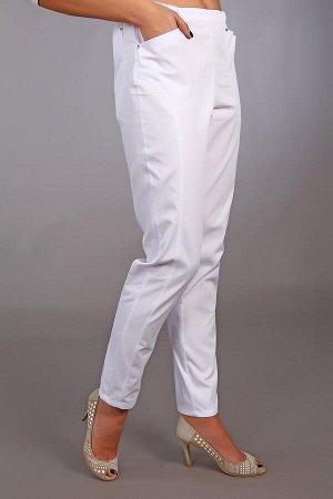 Брюки медицинские жен. Белые М-302 ткань Элит-145