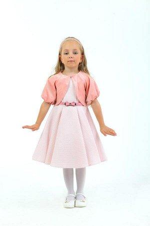 Платье Артикул: СС-ПЛ-18207; Цвет: Розовый Скачать таблицу размеров                                                 Нарядное платье из фактурного жаккарда без рукавов на подкладке из хлопковой ткани.