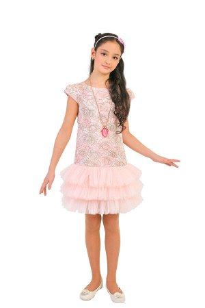 Платье Артикул: СС-ПЛ-1815; Цвет: Разноцветный Скачать таблицу размеров                                                 Нарядное платье из набивного жаккарда на подкладке из хлопковой ткани. Заниженн
