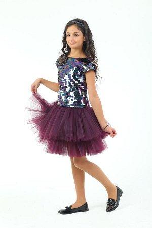 Платье Количество в упаковке: 1; Артикул: СС-ПЛ-18222; Цвет: РазноцветныйСкачать таблицу размеров                                                Нарядное платье из двух видов ткани на хлопковой подкла