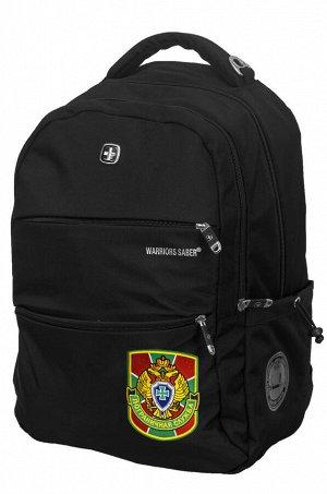 Черный повседневный рюкзак с нашивкой Погранслужбы - Успей купить качественную вещь по адекватной цене! №69/40