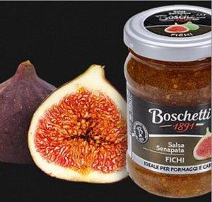 "Горчица фруктовая  соус для сыров ИНЖИР ТМ ""Boschetti "" 120 гр."