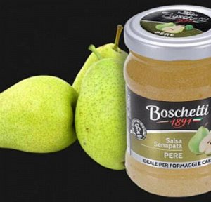 "Горчица фруктовая соус для сыров ГРУША ТМ ""Boschetti "" 120 гр."