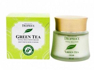 Увлажняющий крем для лица c экстрактом зеленого чая Deoproce Green Tea Total Solution Cream, 60 мл
