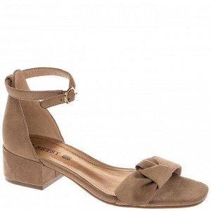 997010/06-02 бежевый иск.замша женские туфли открытые