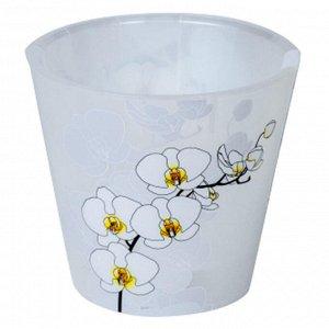 Горшок для цветов Фиджи Орхид Деко 160мм 1,6л ING6196БЛ белая орхидея