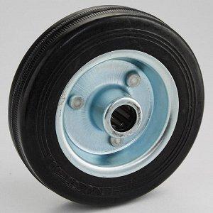 Колесо промышленное без опоры O100х27мм 60 кг ТД11-13К/100-60 черная литая резина