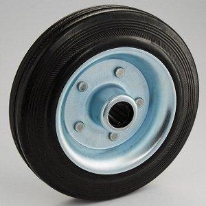 Колесо промышленное без опоры ?160х40мм 130 кг ТД11-13К/160-130 черная литая резина