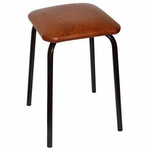 Табурет стальной с квадратным сиденьем 8002/1 коричневый